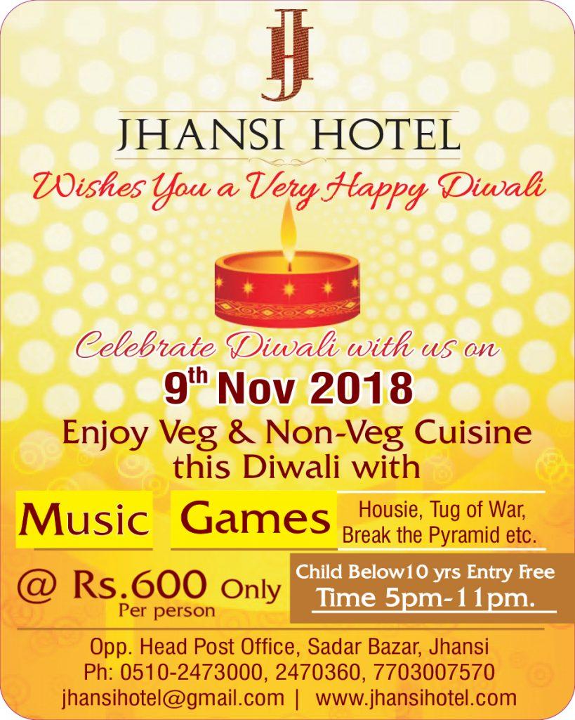 Diwali celebrations at Jhansi Hotel 2018