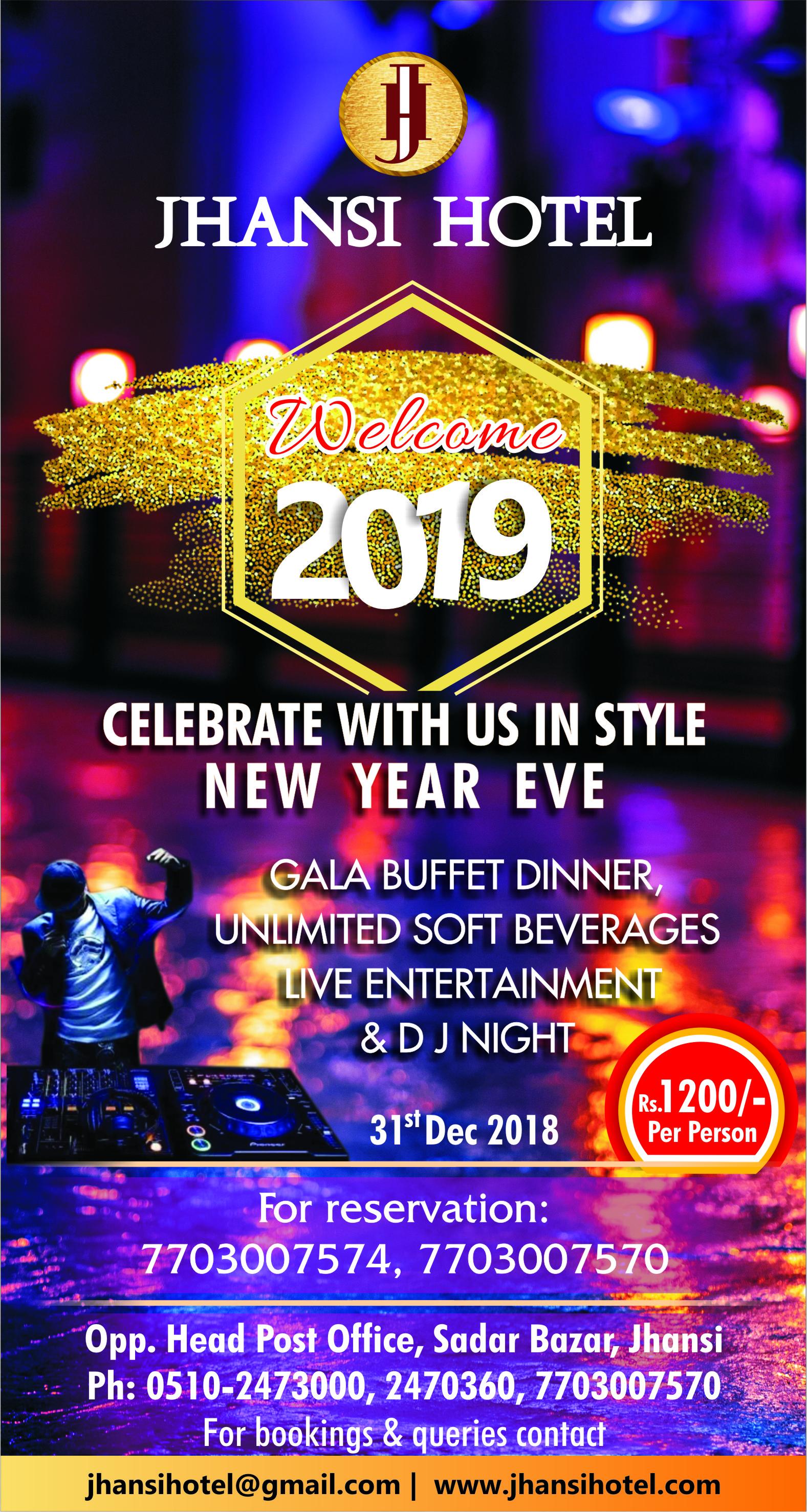 New Year party bash of Jhansi 2019 at Jhansi Hotel