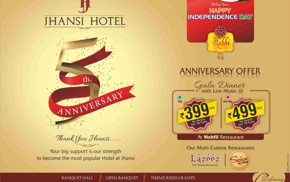 Jhansi Hotel 5th anniversary!